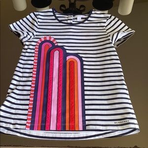 Burberry Navy striped t-shirt with application